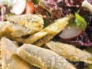 Пържена риба карагьоз с пролетна салата